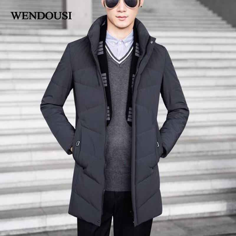 WENDOUSI NEW Autum Winter Down Jacket Men Duck Down Coat Ultralight Down Jacket Male Windproof Thin Light Daunenjacke HS2999
