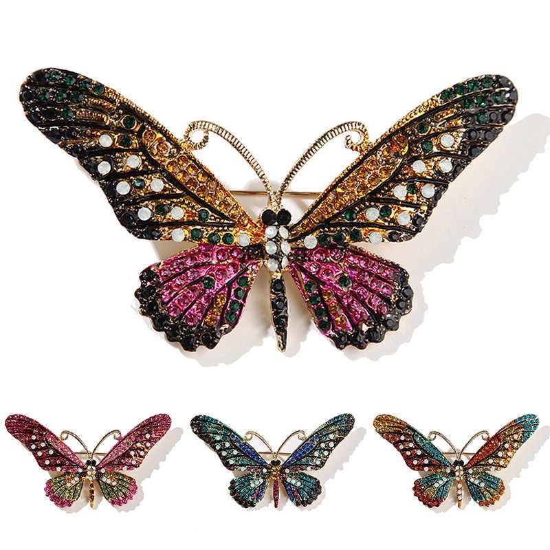 Shinny คริสตัล Rhinestone แมลงผีเสื้อ Dragonfly สาว Pins Bee น่ารักสัตว์เข็มกลัดสำหรับชุดผ้าพันคอผู้หญิงเครื่องประดับของขวัญ