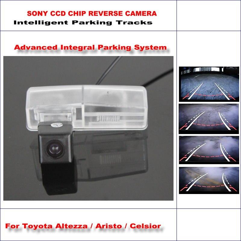 Posteriore di Backup Macchina Fotografica D'inversione Per Toyota Altezza/Aristo/Celsior/HD 860*576 Pixel 580 Linee TV Intelligente Parcheggio tracce