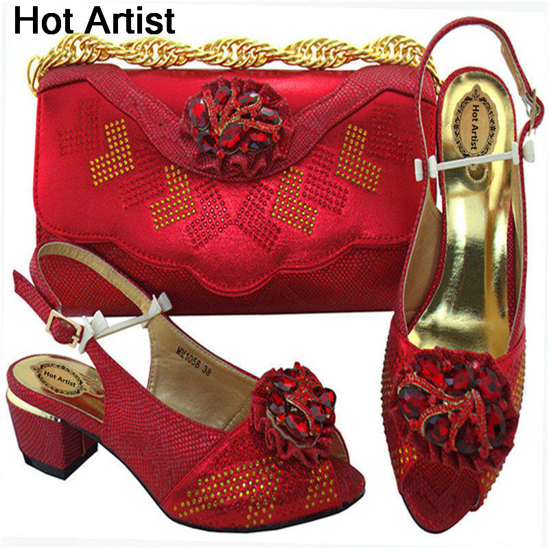 Hot Artist African Shoes And Bags To Match Set High Quality Womwn Shoes And Bag Sets Italian Shoes And Bag Set For Party MM1058 hot artist shoes and bag set african sets italian shoes with matching bags high quality women shoes and bag to match set mm1055
