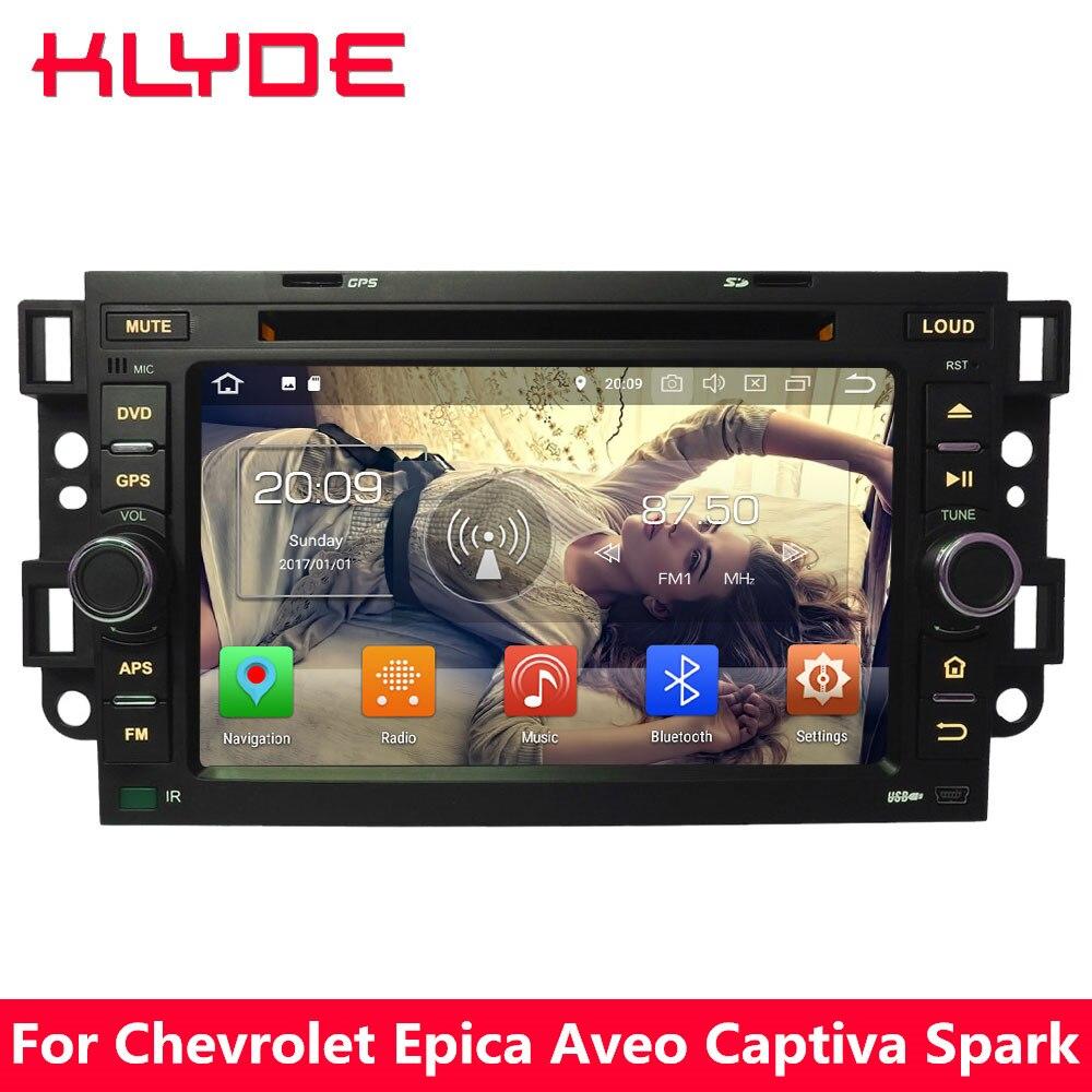 KLYDE Octa Core 4g Android 8 7 4 gb RAM 32 gb ROM Lecteur DVD de Voiture Stéréo Pour Chevrolet holden Optra Kalos Aveo Captiva Epica Spark