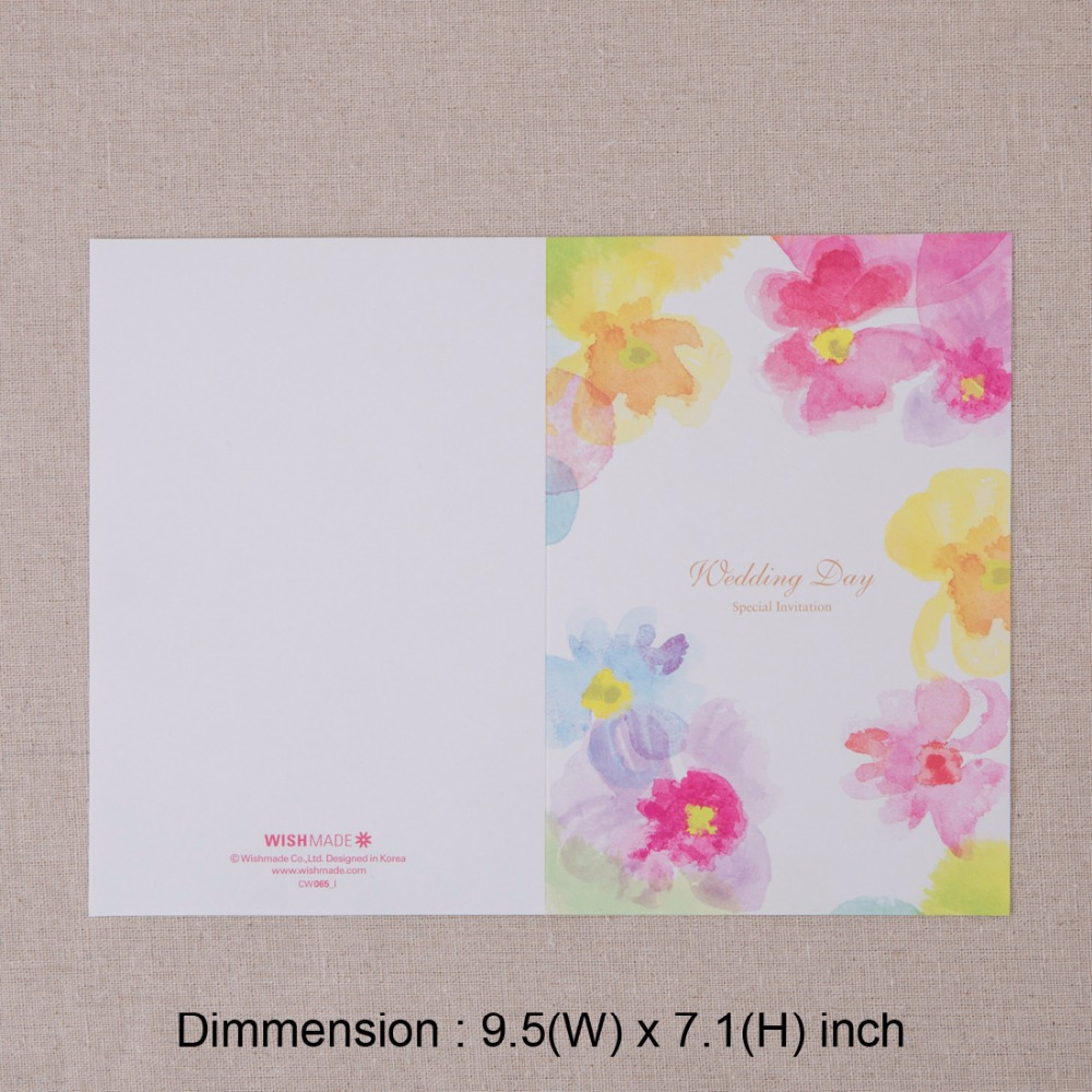 Laser Cut Wedding Invitations Personalized Colorful Flowers Invites ...