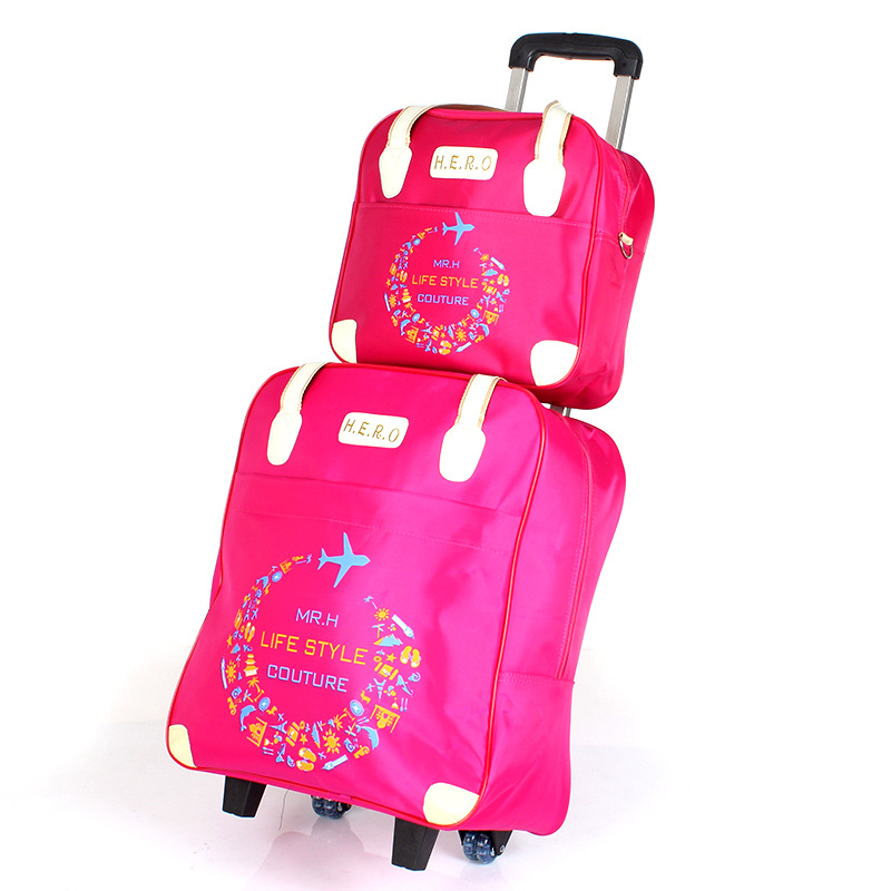 Women Rolling Luggage Bag set,Waterproof Oxford cloth Travel Suitcase,Wheel Trolley Case Portable Carry-On Dragbox with Handbag abs hardside rolling luggage set with handbag women travel suitcase bag with cosmetic bag 2022242628inch wheel trolley case