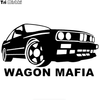 Tri Mishki HZX243 10.8*20cm 1-4 pieces funny car stickers wagon mafia for bmw e30 m3 auto car sticker image