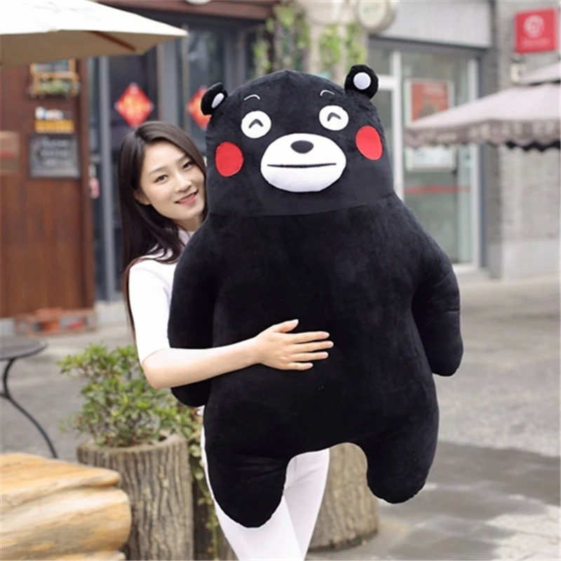 50cm Kumamon Character Japan Bear Plush Toy Childrens Gift Cute Stuffed Pillow Doll Xiongben County For Kids/Baby/Adult Gifts