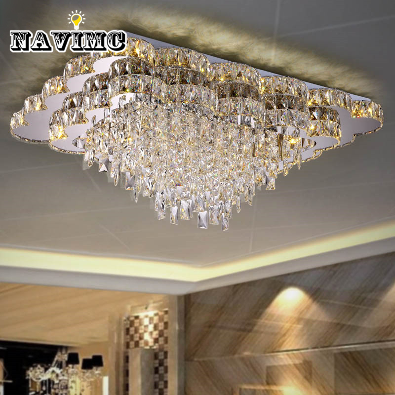 Modern Large LED Crystal Chandelier Living Room Bed Room lights luxury Crystal Ceiling lamp for home decor indoor lighting