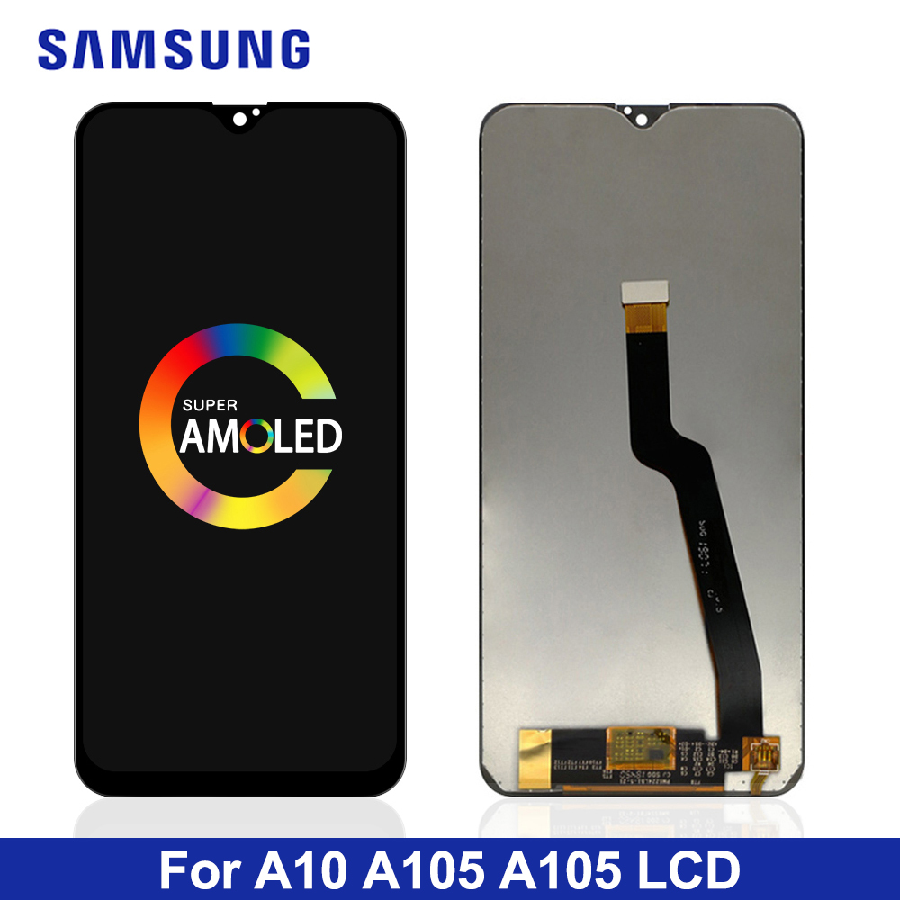 ORIGINAL 6.2'' LCD DISPLAY For Samsung Galaxy A10 A105 A105F SM-A105F LCD Touch Screen Digitizer Assembly Replacement title=