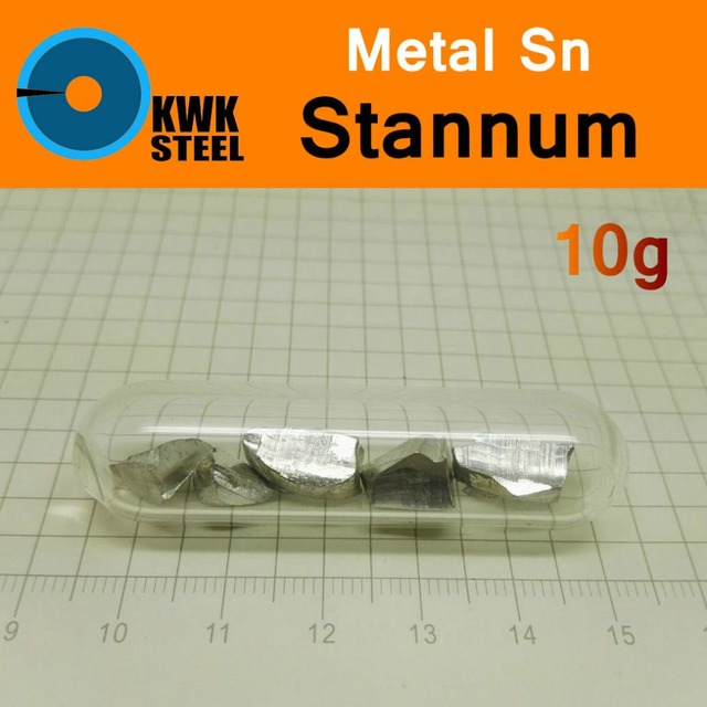 Sn Stannum Bulk Glass Seal 10g Pure 9999 Periodic Table Of Metal