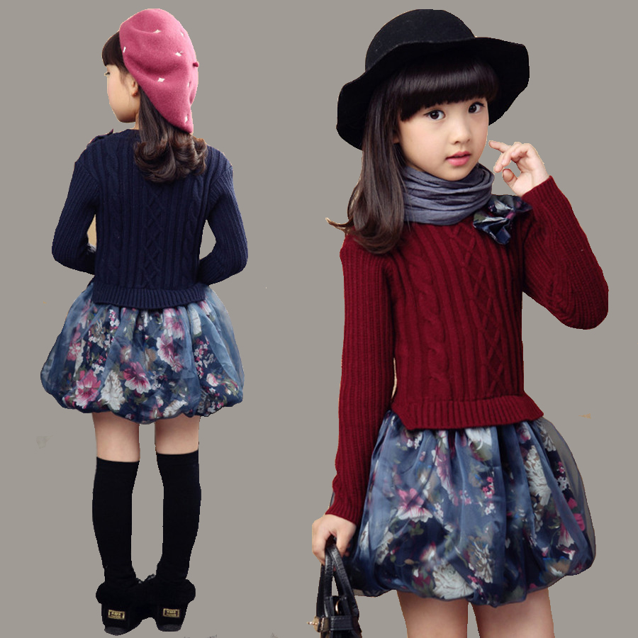 Beautiful crochet dresses for kids trendy - Girls Crochet Dress Fashion Cotton Beautiful Dresses For Children Party Wear Kids Dress Knitted Print Floral