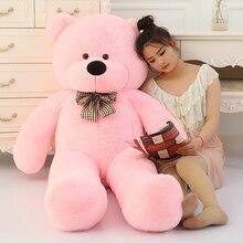 Большая распродажа огромный плюшевый медведь мягкий 160 см 180 см 200 см 220 см Размер жизни большой огромный большой плюш мягкие игрушки куклы для девочек день рождения Валентина