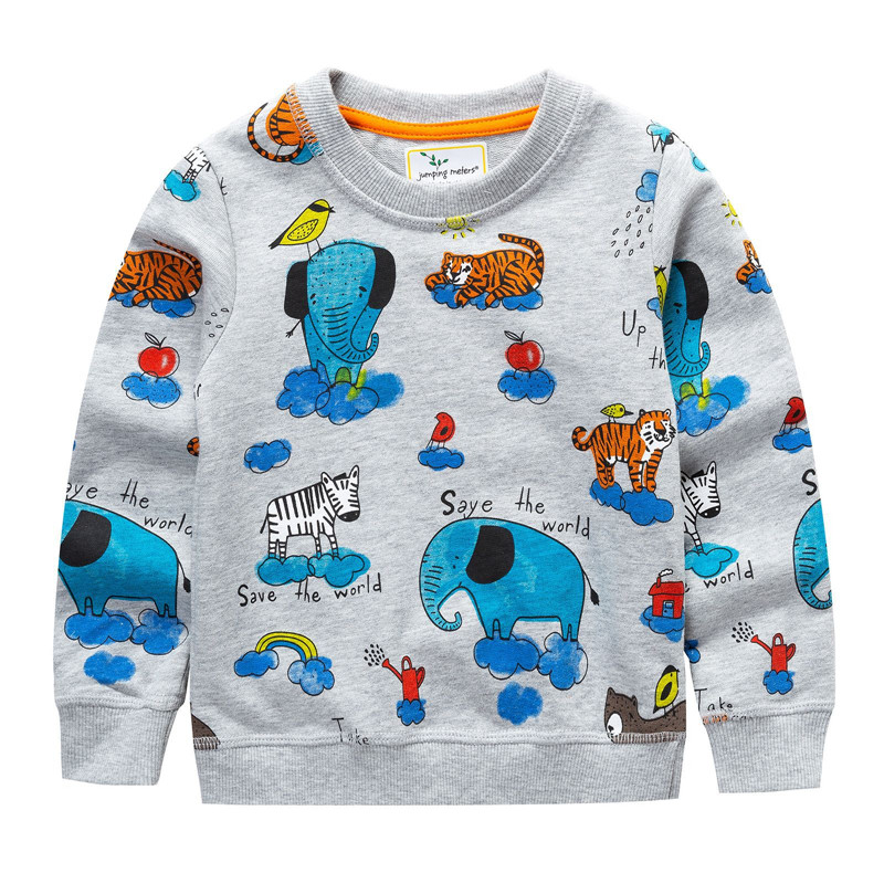 купить NEW Spring Jumping meters Baby Sweatershirts Children T Shirt For Boys Cotton Kids Tops Out Wear Children Coat Brand Clothes по цене 565.06 рублей