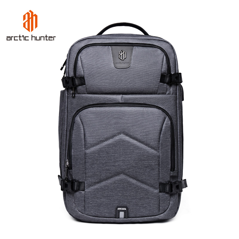 ARCTIC HUNTER Backpack Men Multifunction USB Charging & Headphone 17inch Laptop Backpacks Travel Backpack Mochila Hombre Bagpack arctic hunter 2018 usb charging waterproof backpack men 15 6 inch laptop backpacks travel bag