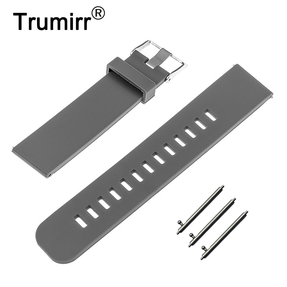Silicone Rubber Band Quick Release 18mm for Asus ZenWatch 2 (1.45 / 45mm) Women 2015 Huawei Watch Strap Resin Bracelet 6 Colors