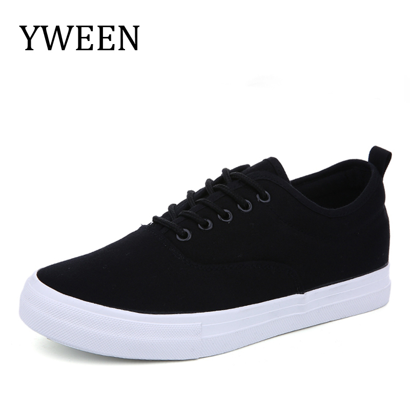 YWEEN Mens Sneakers Lace-Up Classic Style Breathable Canvas Shoes Men Vulcanized Shoes