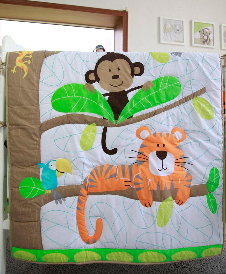 1 шт., Хлопковое одеяло для детской кроватки, 33*42, для мальчиков и девочек, Универсальное Детское одеяло с мультяшным принтом, детское одеяло, одеяла для кроватки, детские вещи для новорожденных - Цвет: comforter only21