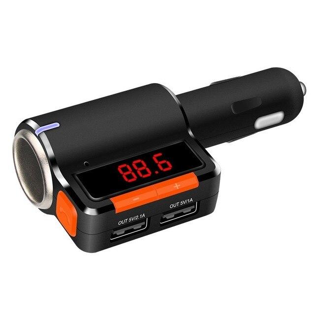 d8b834e2f66 Mejor Kit de coche Bluetooth manos libres FM Transmisor A2DP música estéreo  MP3 Player con pantalla