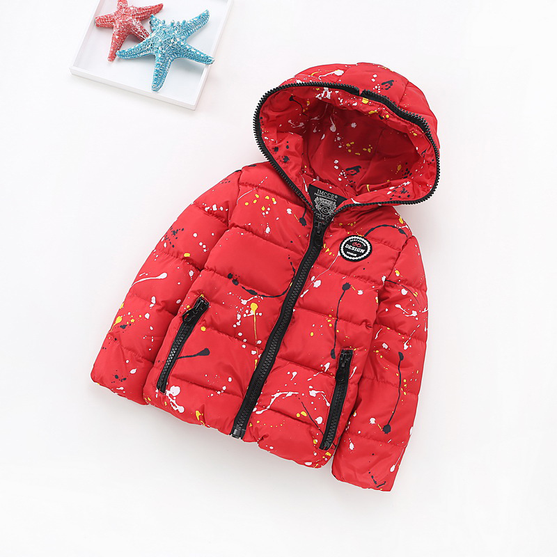 Children Clothing Winter Baby Girls Cotton-padded Clothes Korean Thick Kids Boys Down/Parkas Kids Hooded Fashion Zipper Jackets 2016 winter children clothes girls sports hooded cotton padded jacket coat for girls kids clothing long thick jackets outerwear