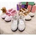 2017 recién llegado de princesa bowknot niños de la pu shoes crystal decorado niños shoes girls shoes 3 color envío gratis