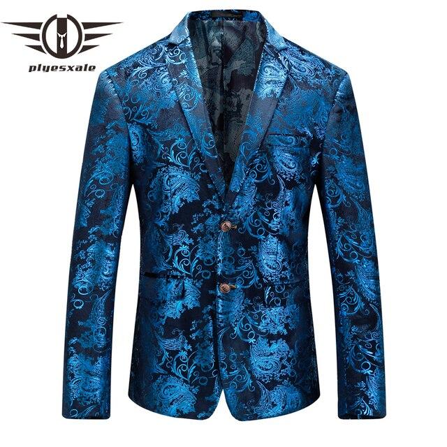 ff39a00e2 Plyesxale Blazer hombres 2018 Otoño de terciopelo para hombre chaquetas y  americanas