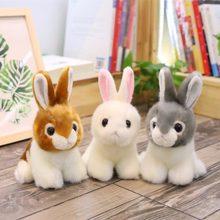 1pc 20cm de simulación Kawaii conejo de peluche de juguete de peluche juguetes de peluche lindos juguetes para animales para niños cumpleaños regalo de Navidad muñeca decoración de coche