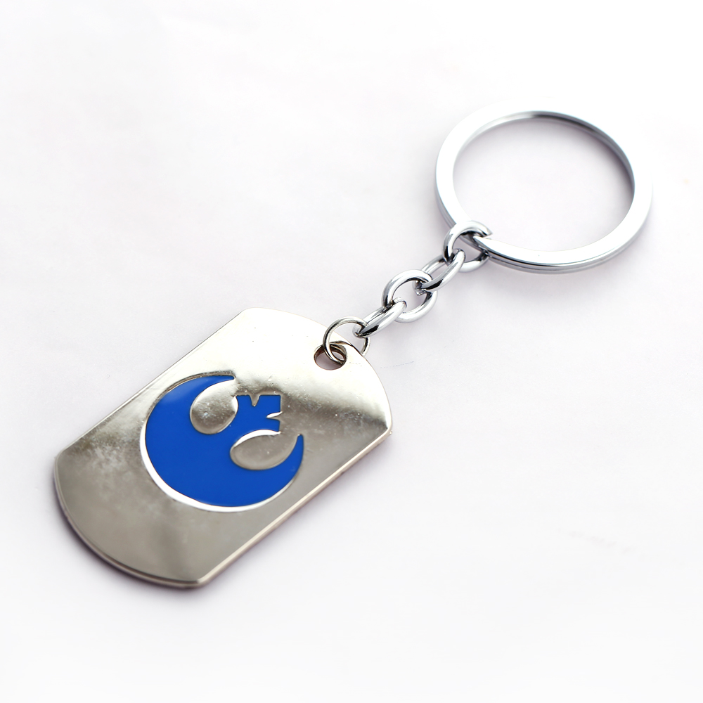 MS joyería Star Wars llavero Etiqueta de perro Llaveros para regalo chaveiro  llavero de coche Movie key holder souvenir 1485833abc