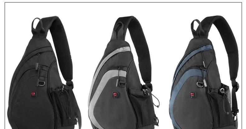 peito pacote sling sacos de ombro para