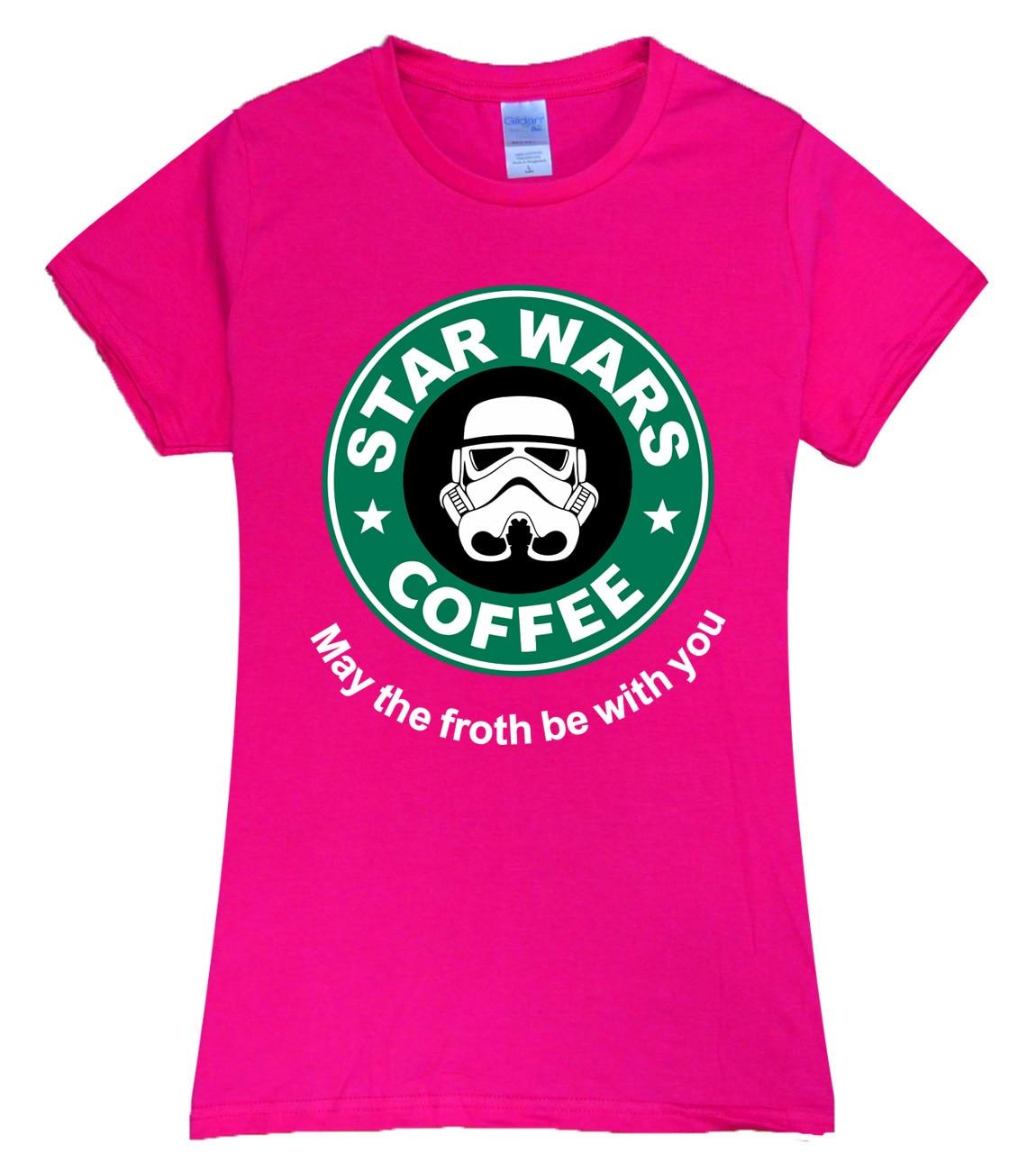Black t shirt grunge - Cool Star War Coffee 2017 Summer New Sexy T Shirt Women Brand Tops Harajuku Tee Pink Shirt Funny Angel Grunge Femme Black White