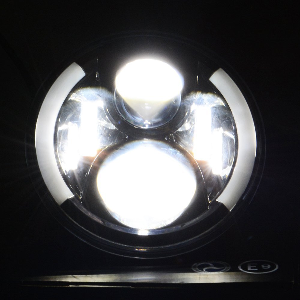 WHDZ 2X 7 Inch Round LED Headlights Projection Headlight Kit for Jeep Wrangler JK TJ LJ lada niva 4x4 suzuki samurai Hummer
