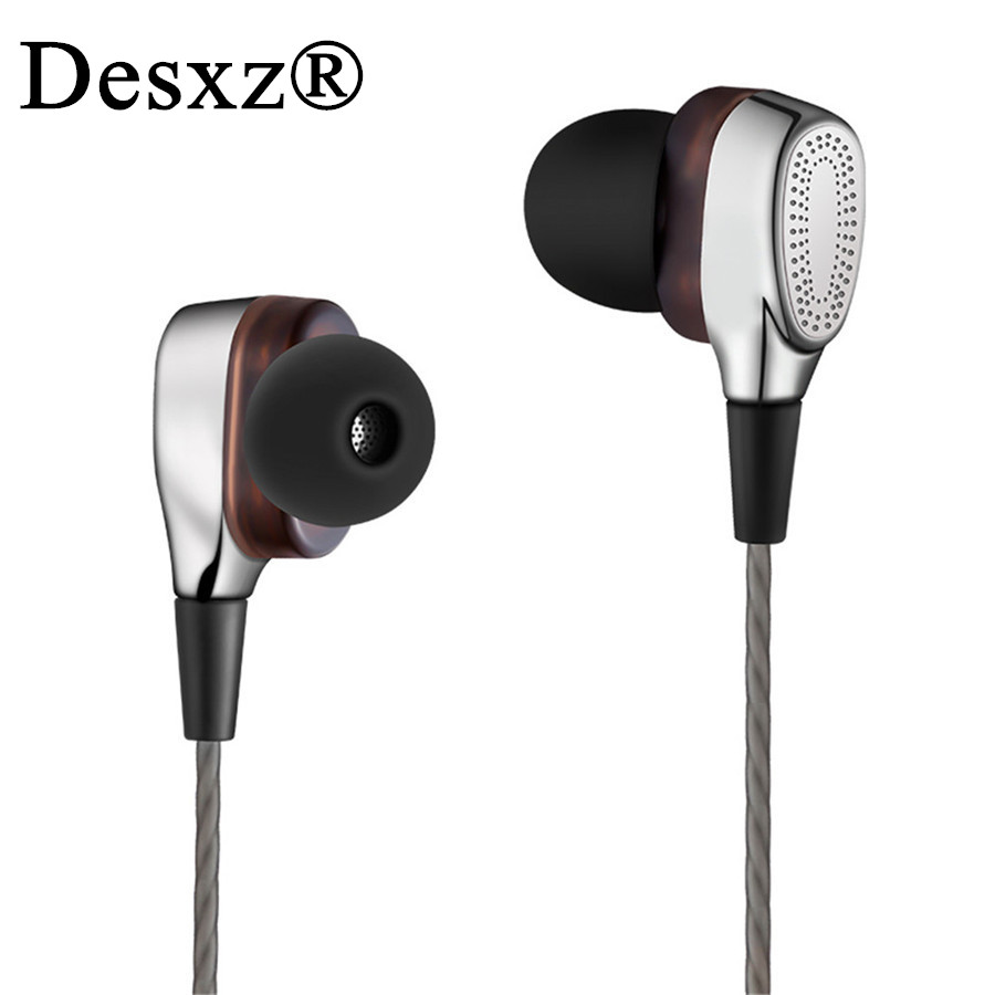 Desxz Bass Earphones sport headset Mini Dual Driver Wired In-Ear Headphone Bass Stereo Earbuds Headset with Mic for phone metal wired earphone high bass dual drive hifi in ear earphones with microphone sport headset earbuds for iphone xaiomi samsung