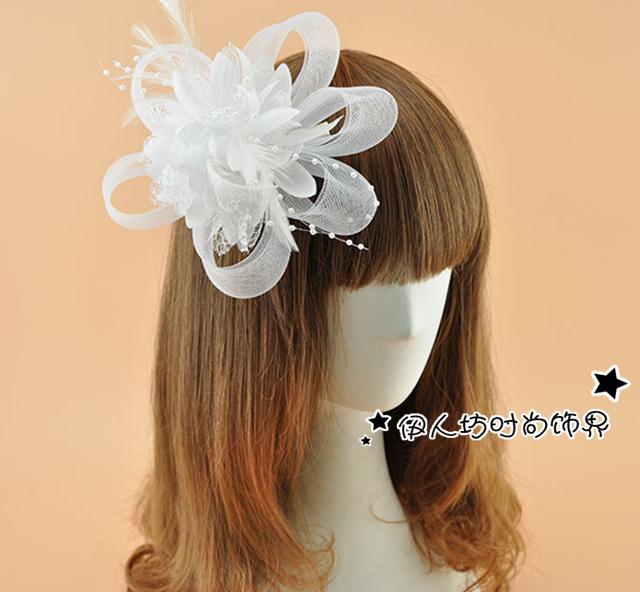 Vintage colorido chapéus de noiva Beading barato Modest em estoque chapéu do Vintage fFscinator 2016 frete grátis mulheres artesanal cocar