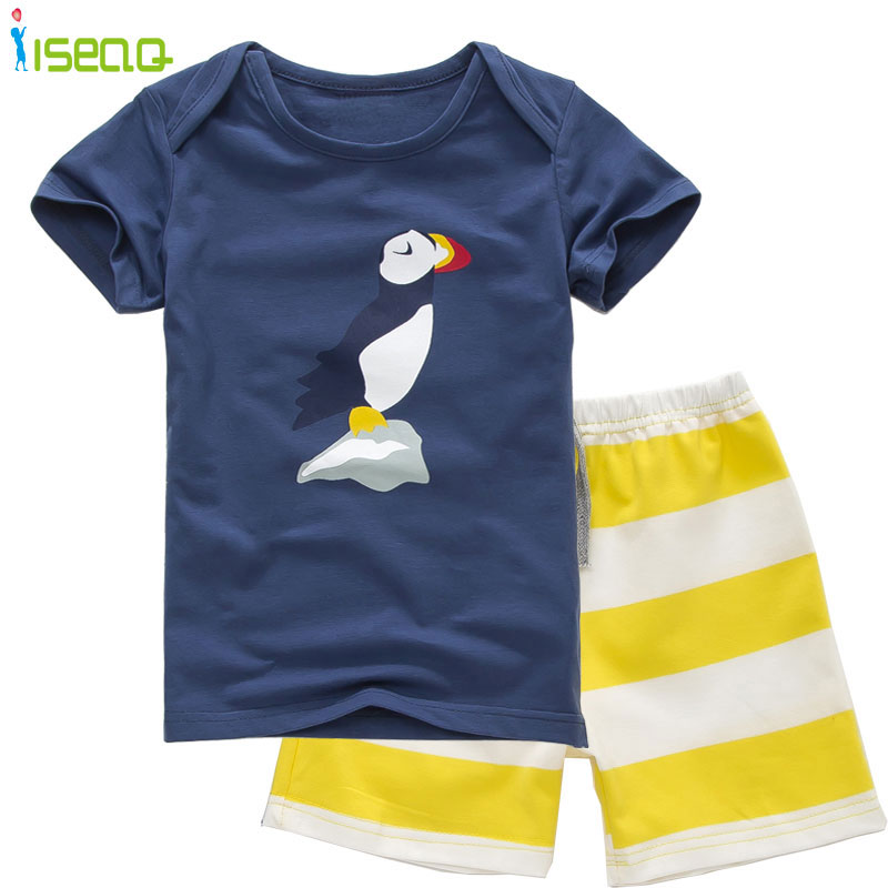 2017 Summer Boy Clothes Sets Cotton Cartoon Clothing Set Baby Boys Toddler Suits Kids Short Sleeve T-shirt+ Striped Short Pants 2t 7t high quality cotton baby boy kids toddler children suits clothing clothes set 2pcs baby boys clothing sets summer x16