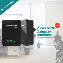 Пар 500 Мбит Мини PLC Гигабитный Сетевой Ethernet модем ЕС CF-WP500M мини-plc homeplug Мощность линии COMFAST Адаптер Powerline комплект