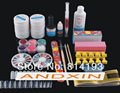 2014Full Buffer Brush French Nail Art UV Gel Acrylic Glue Powder Tips Kit Set Promotions Discount