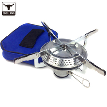 Selpa outdoor camping gas stoves and Equipped with fire starter gas burners picnic cooking gas burner stoves Survival Cooking
