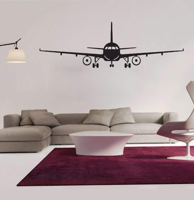 Airplane Wall Stickers Muraux Decor Art Decal Decoration Vinyl Removable Helicopter Wallpaper In From Home
