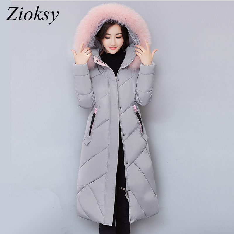 2017 New Fashion Winter Jacket Women Parkas Hooded Fur Collar Embroidery Pattens Warm Cotton Padded Coat Female Long Outwears big fur 2017 new fashion parkas winter jacket hooded fur collar warm cotton padded inside fur thick coat loose female outwears