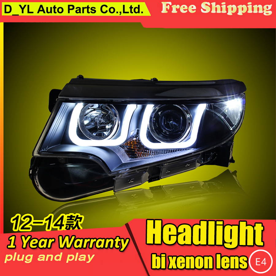 Car Styling Headlights for Ford Edge 2012 2014 LED Headlight for Edge Head Lamp LED Daytime