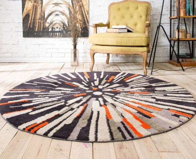 15mm thinkness Hoge Kwaliteit polyester fiber Ronde tapijten ...