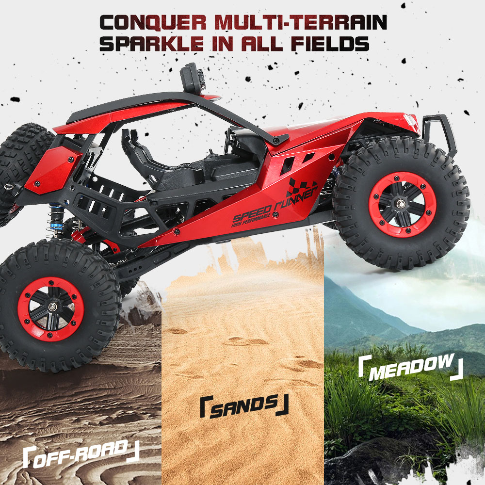 JJRC JJRC Q46 112 2.4G RC Car 4WD 45kmh High Speed Rock Crawler Desert Buggy Cars RTR for Kids Children Gifts RC Toys (21)