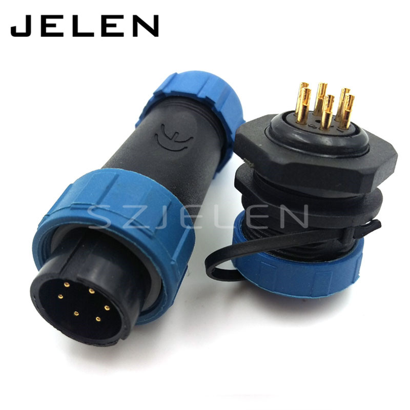 SY1710, 6 pin power connector , 6 pin waterproof plug male, 6 pin socket female, LED power connectors, automotive connectors jelen hp20 series 7 pin industrial connectors plug socket aviation connector power charger male and female connectors 7 pin