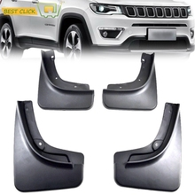 Car Styling for jeep compass 1.4 2017 2018 Accessories Mud Flaps Splash Guards Front Rear Mud Flap Mudguards Fender Black 4pcs(China)
