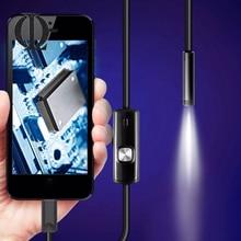 1.5 m 7mm lente Rígida Inspeção Cabo USB Mini Câmera Tubo Cobra Endoscópio IP67 Endoscópio com LED para Android telefone À Prova D' Água