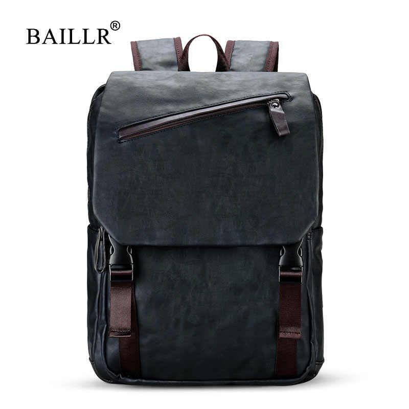 1b16349bc4bd BAILLR бренд стильный мужской большой емкости сумка дорожная сумка для ноутбука  рюкзак водостойкий колледж прилив повседневные