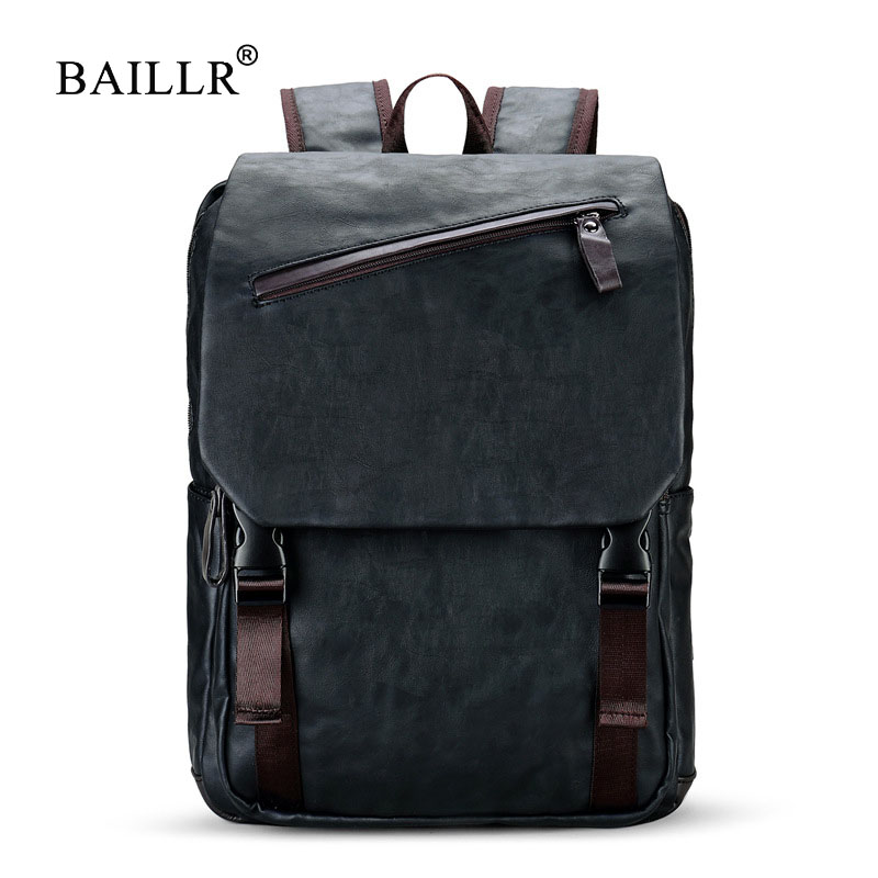 BAILLR Brand Stylish Men Large Capacity Bag Travel Laptop Backpack Waterproof College Tide Casual Men's Backpacks School Bag цена 2017
