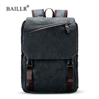BAILLR Brand Stylish Men Large Capacity Bag Travel Laptop Backpack Waterproof College Tide Casual Men