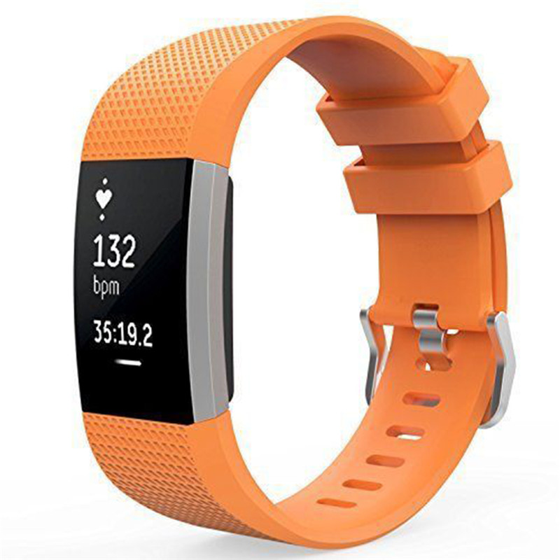 Silicone strap band Pin Buckle Fitness Smart bracelet watches Replacement Sport Wristband Strap Bands for Fitbit Charge 2 silicone replacement wrist band strap bracelet for polar v800 sport smart watch t50p drop ship