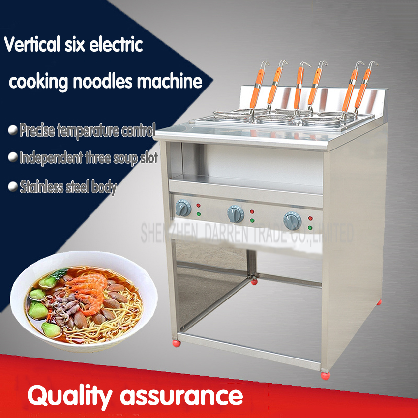 1PC 220V FY-6HX  Commercial vertical six stainless steel electric cooking noodles machine/malatang machine free by dhl 2pc electric box 6 basket commercial stove pasta boiler noodles cooking tank stainless malatang machine with drain