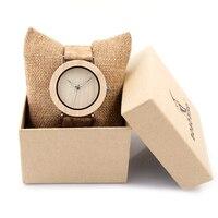 Luxury Brand BOBO BIRD Wooden Watch Women Fashion Casual Quartz Watches Wood Wristwatch Relogio Feminino C