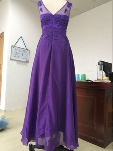 Image 4 - ANGELSBRIDEP Plus Size Appliques Beading Chiffon Long Evening Dresses Formal Party Prom Gowns Robes De Soiree 2020 Loss Sell