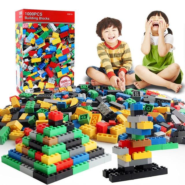 1000 Pieces City DIY Creative Bricks Classic Building Blocks Bulk Sets Creator Baseplate Educational Toys Compatible All Brands